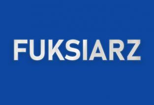 Grafika przedstawia napis Fuksiarz.